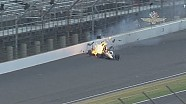 Hinchliffe slams wall, goes up on his side during Indy 500 practice