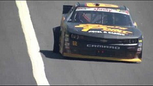 Gaughan blows a tire at Charlotte