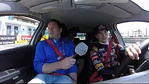 Max gives father Jos Verstappen a wild ride