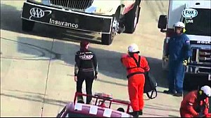 Jennifer Jo Cobb walks onto live track after crash