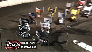 Highlights: World of Outlaws Sprint Cars Husets Speedway June 14th, 2015