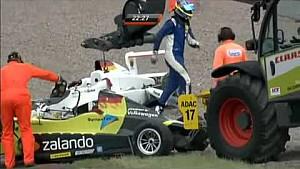 ADAC Formula Masters 2012 Sachsenring crash