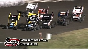 Highlights: World of Outlaws Sprint Cars Dakota State Fair Speedway June 20th, 2015