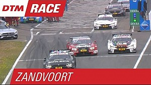 Molina and Wittmann nudge together after pit stop - DTM Zandvoort 2015