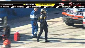 Power and Briscoe crash at Milwaukee