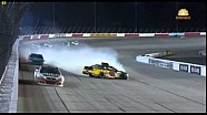 Michael Annett spins at Darlington