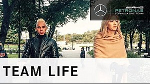 F1 Champion Lewis Hamilton visits Moscow with Lena Perminova and HUGO BOSS