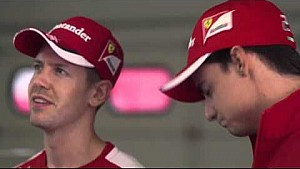 Gutierrez gives Mexican lessons to Vettel and Raikkonen