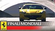 Finali Mondiali - Sebastian Vettel geeft Ferrari F12tdf de sporen