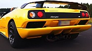 Lamborghini Diablo Sound V12 revs 550Plus Club Acceleration revving
