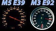 BMW M5 E39 vs BMW M3 E92 Sound + 0-280 Acceleration Autobahn Onboard V8
