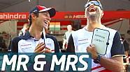 Bruno Senna e il suo tecnico Andreas