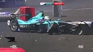 Nelson Piquet massive shunt - Mexico ePrix qualifying