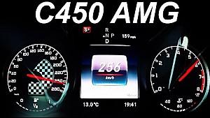 Mercedes C450 AMG Acceleration 0-255 Onboard V6 Biturbo Sound POV W205