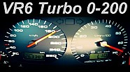 VW GOLF Acceleration 0-200 VR6 Turbo Volkswagen