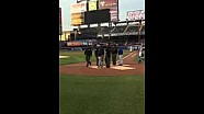 Zak Brown throws first pitch at NY Mets game