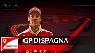 Il GP di Spagna con Sebastian Vettel - Scuderia Ferrari 2016