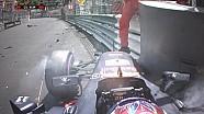 GP de Monaco - Max Verstappen dans le mur en qualifications