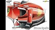 Giorgio Piola - Ferrari SF16-H sidepod inlet changes (Spain)