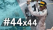 Lewis' Road to #44: how he matched his race number in F1 wins