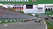 GP du Canada - Le départ, avec un envol incroyable de Vettel