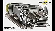Giorgio Piola - McLaren MP4-31 front wing changes in Canada