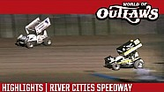 World of Outlaws Craftsman Sprint Cars River Cities Speedway June 17th, 2016 | HIGHLIGHTS