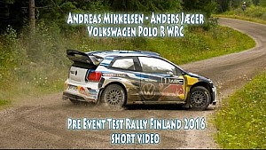 Andreas Mikkelsen - Anders Jæger, Volkswagen Polo R WRC, Pre Event Test Rally Finland 2016
