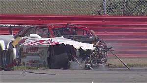 Massive crash at Mid-Ohio Trans Am Series race