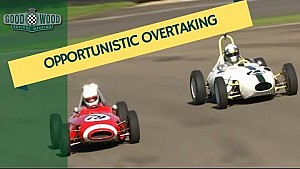Spectacular 'Opportunistic Overtaking' in a 1950's racer