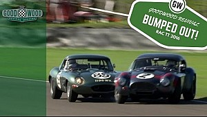 AC Cobra loses lead after Jaguar E-Type bump
