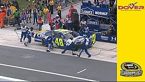 Johnson loses the lead after costly pit road penalty