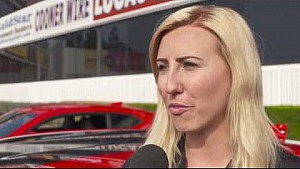 Courtney Force test drives the new Chevrolet ZL1 in Pomona