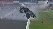 Авария Сиднея Фриго во время заезда NHRA Pro Mod в Хьюстоне