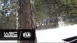 Rallye Monte-Carlo 2017: Juho Hänninen crash on SS05