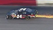 Bryan Silas hits the wall at Darlington!