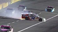 NASCAR McClure crashes in a shower of sparks | Charlotte Motor Speedway (2013)
