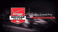 2014 Toyota Grand Prix: Podium Finishers
