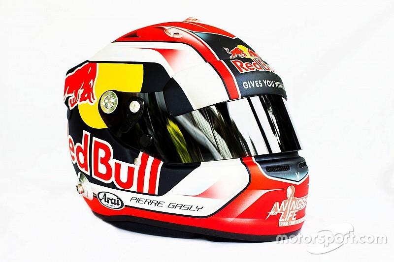 Gasly, F1'de kullanacağı kaskı tanıttı