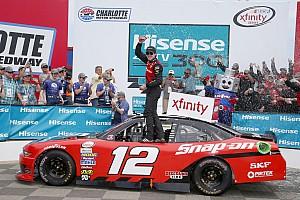 NASCAR XFINITY Reporte de la carrera Blaney rebasa a Harvick para ganar la Xfinity en Charlotte