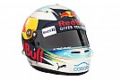 Ricciardo muestra los nuevos colores de su casco para 2017
