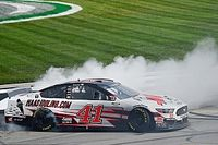 Cole Custer grabs shock Cup win at Kentucky in four-wide finish