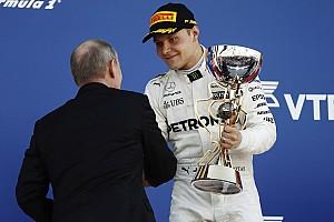 【F1】ロシアGP決勝:ベッテルの猛追及ばず、ボッタスがF1初優勝!