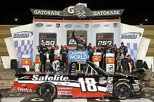 NASCAR Truck Race report Noah Gragson beats Kyle Busch for NASCAR Truck win at Kansas