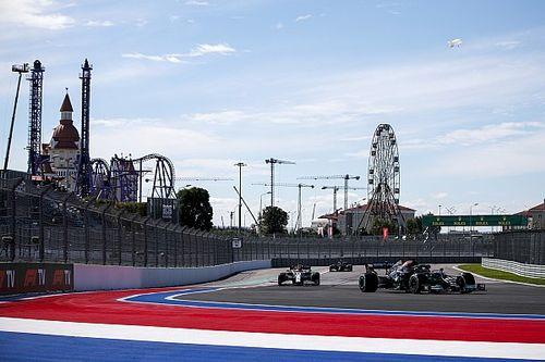 De volledige startopstelling voor de Grand Prix van Rusland