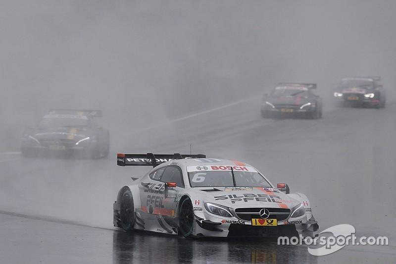 DTM in Moskau: Vierfachsieg für Mercedes im Regen