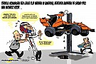 Cartoon van Cirebox - Jenson Button maakt kennis met McLaren-Honda MCL32