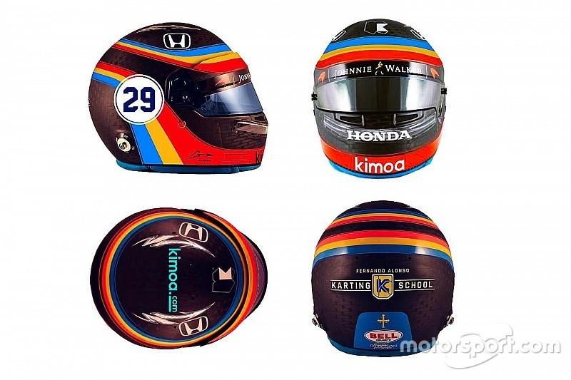 Alonso, Amerika'da Indy 500'de kullandığı kaskla yarışacak