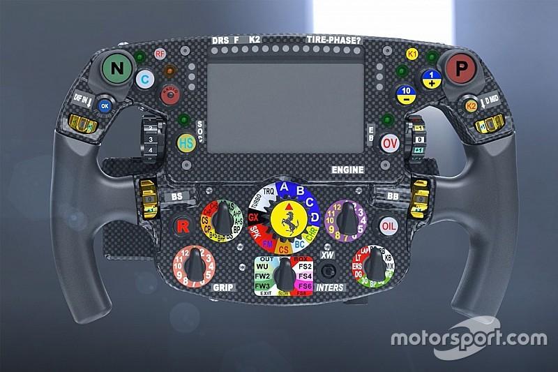 Novo volante pode dar dica de vantagem da Ferrari com pneus
