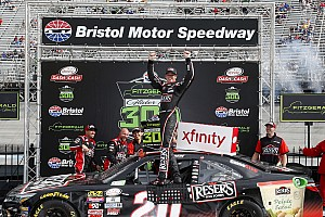 NASCAR XFINITY Race report Erik Jones moves Ryan Blaney and takes Xfinity win at Bristol